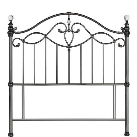 Elena Black Nickel King-Sized Headboard